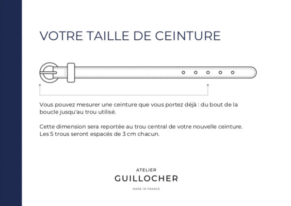 guide taille ceinture