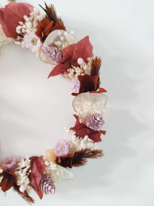 Couronne 18 Rouge rose