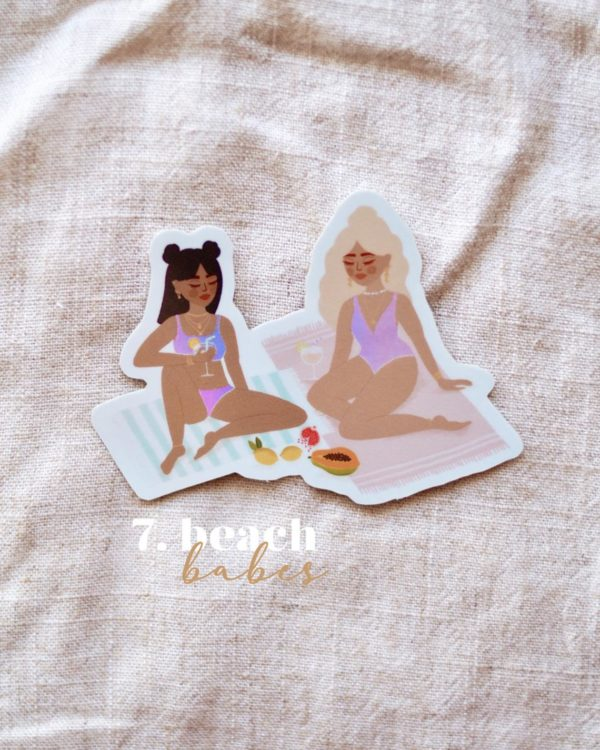 sticker-beach-babe