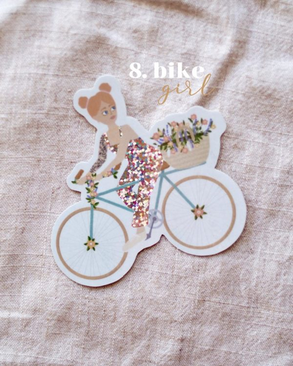 sticker-bike-girl